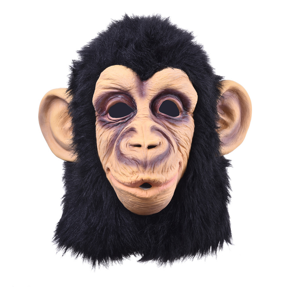 2016  Monkey  Latex Mask breathable Novelty full face head mask Halloween Masquerade Mask Fancy Dress Party Cosplay Costume muñeco buffon