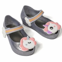 Mini Melissa 2019 New Summer Sandals Unicorn Shoes Girls Breathable Jelly Non-slip