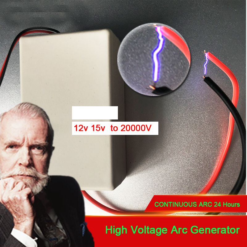 DC7-15V To 20000V Pulse Discharge High Voltage Arc Generator Ignition Boost Coil 24 Hours Long Working FOR Negative Ion, Ozone