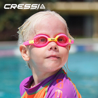 161a582336c Cressi Kids Swimming Goggles Swim Eyewear Pool Goggle DOLPHIN 2.0 for Boys  Girls Child Children Age