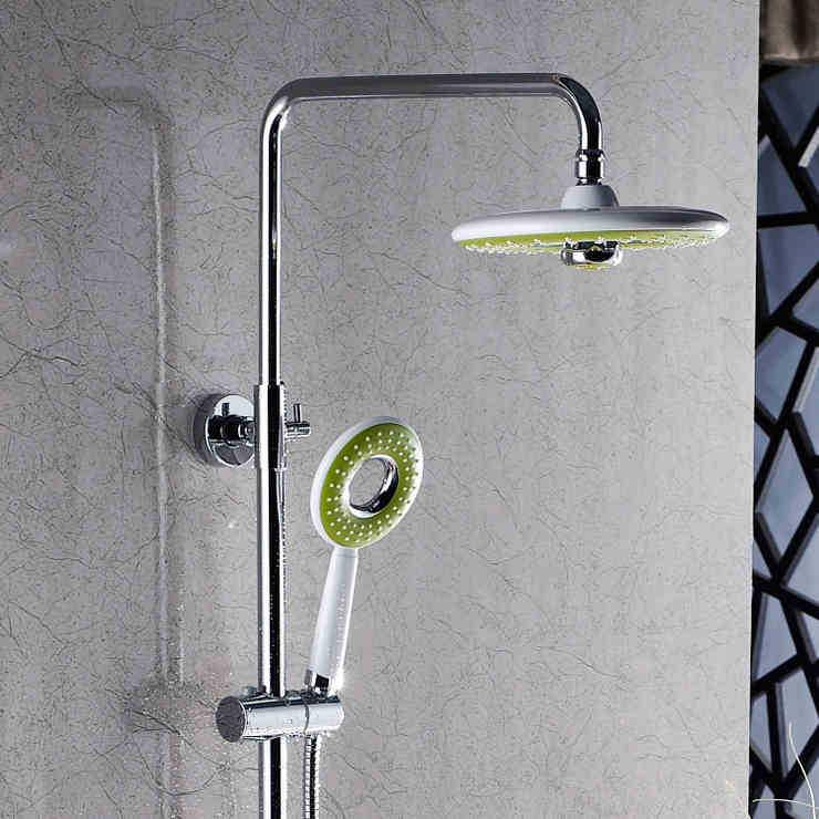 Tête de douche simple en plastique multifonctionnelle avec buse supérieure