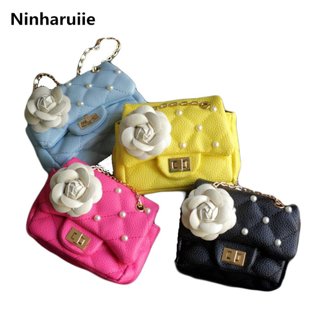06753014da1 Ninharuiie Baby Girls Bags Girl's Accessories Kids Handbags Children PU  Party Bag Shoulder Bags For Girls Woman Chain Mini Bag