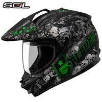 Motocross VCOROS całą twarz kask ECE zatwierdzony człowiek off road kask motocyklowy SOL ss-1 biegowe wyścigi motocyklowe kaski