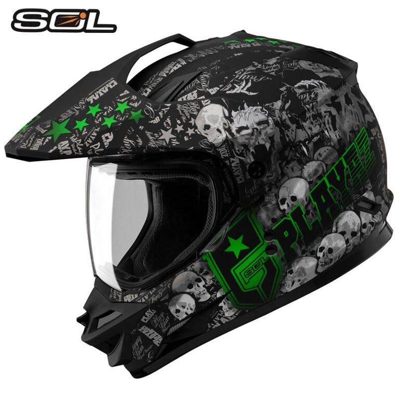 Vcoros анфас мотокросс шлем ЕЭК одобрил человек Off Road Мотоциклетный шлем Sol ss-1 Беговые гоночный мотоцикл шлемы