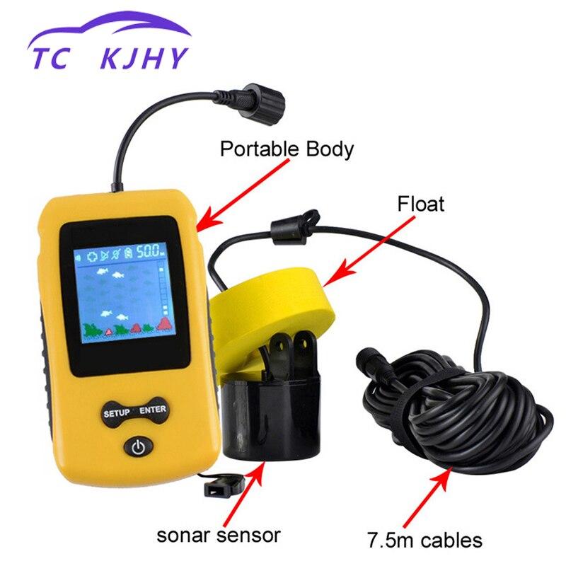 Auto coloré écran câble poisson détecteur eau profondeur poisson quantité Location eau herbe pierre Marine GPS exquis affichage