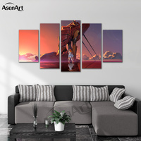 Wall Art Canvas Painting Cartoon the Neon Genesis Evangelion Modern Picture Poster for Living Room Home Decorative