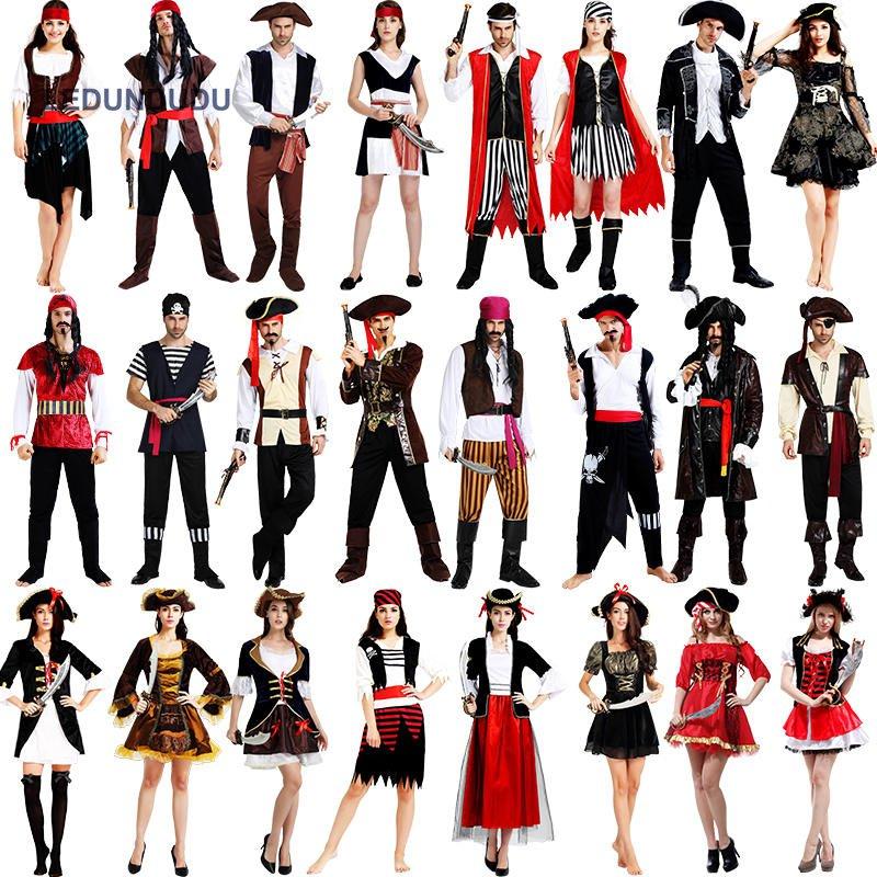 Nieuwe Piraten van de Caraïben Kostuums Halloween Fancy Feestjurk - Carnavalskostuums