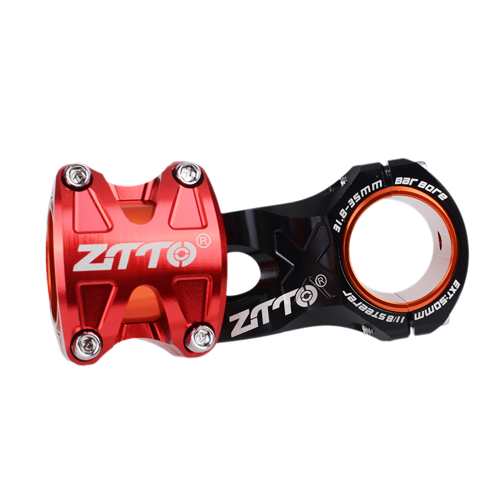 ZTTO Bicycle Stem 0 Degree Rise DH AM Enduro 28.6mm Stem Bike 50mm MTB Stem Aluminum Alloy CNC For 35mm/31.8mm Handlebar Use
