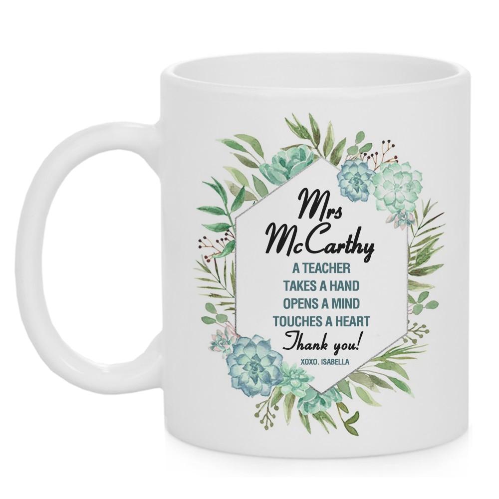 Best Ever Appreciation Teacher Mugs Cup Mug Thank You Gift Coffee Custom Name