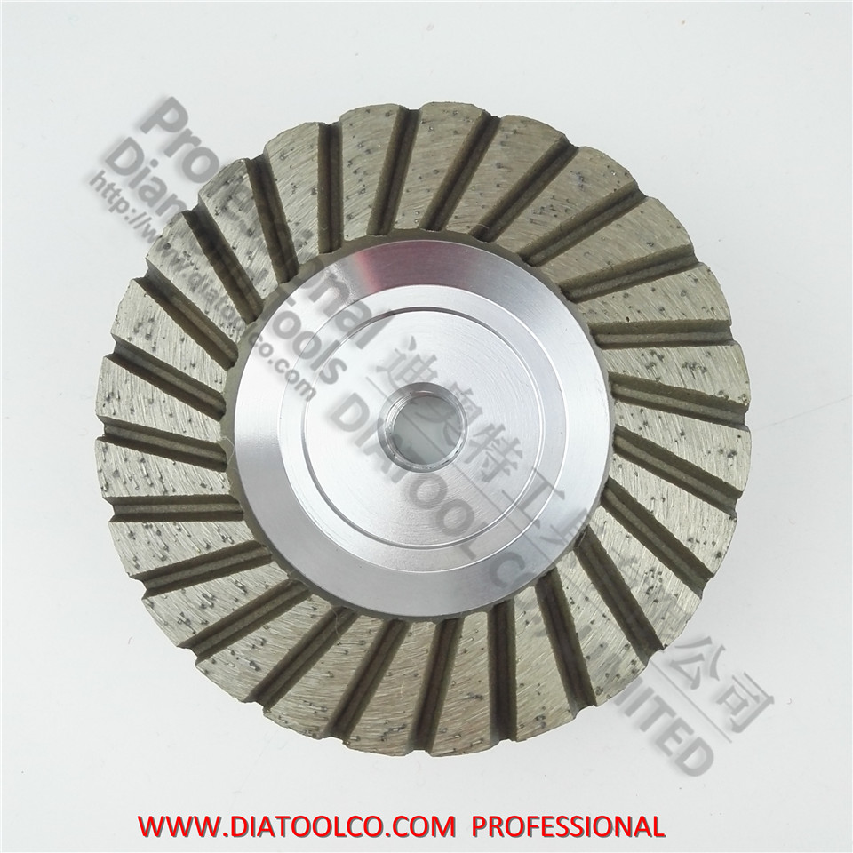 4inch Grit 30 Aluminum based diamond grinding cup wheel Diameter 100mm for granite concrete