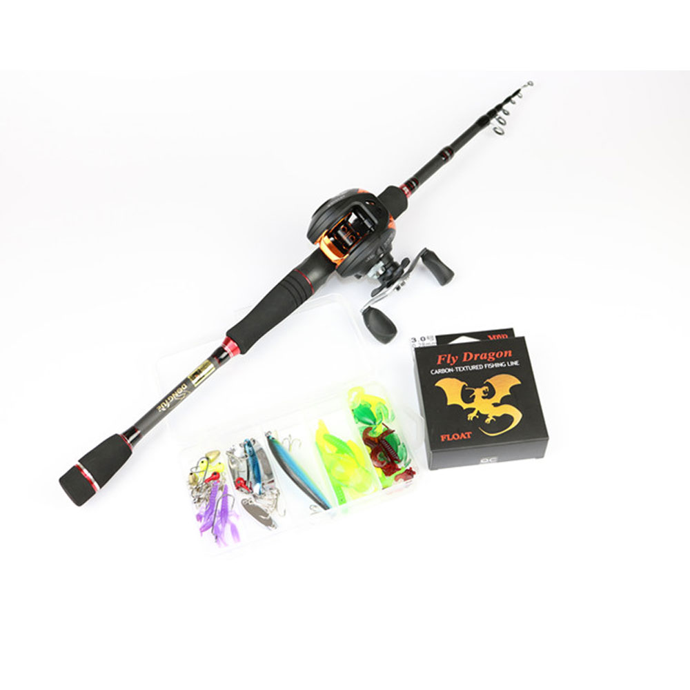 Rod Combo High carbon ultralight fishing rod 1.95-2.7m Sea Boat fishing with fishing rod & reel good quality rod combo high carbon ultralight fishing rod 1 95 2 7m sea boat fishing with fishing rod