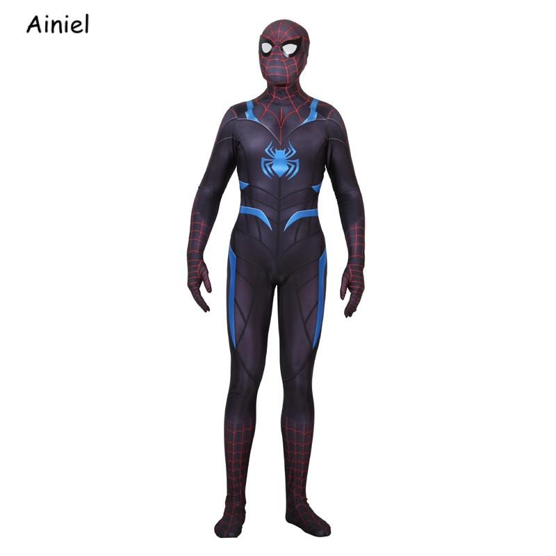Game PS4 Secret War Suit Spiderman Mask Cosplay Costume Spider Man Superhero Zentai Bodysuit Halloween Costumes for Adult Kids