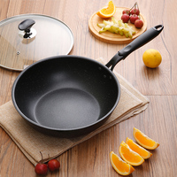 28cm Diameter Induction Cooker Kitchen Cooking Tool Modern Beef Western Meal Stone Layer Nonstick Pan Oven