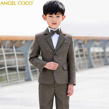 5pcs/set Brown Boys Suits For Weddings Flower Boys Spring Children's Day Chorus Show/Performance Blazer Suits Costume Garcon - DISCOUNT ITEM  20% OFF All Category