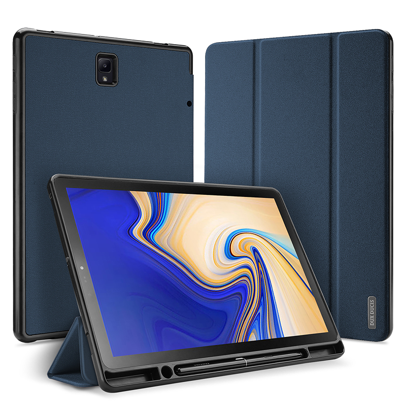 For Samsung Galaxy Tab S4 10.5 Smart Case Cover 2018 SM-T830 T835 PU Leather Protective Shell Auto Sleep Stand