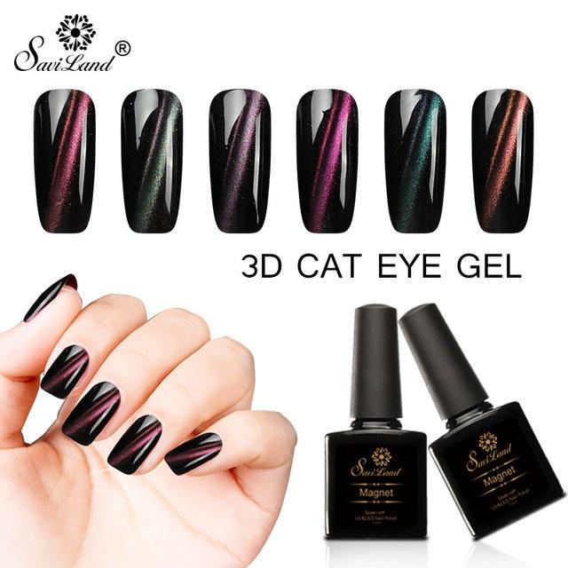 Gelaxy Gel Nail Polish: Aliexpress.com : Buy Saviland 3D Cat Eye Magnet Gel