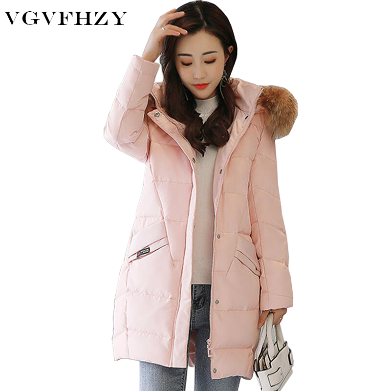 100% Natural Raccoon Fur Collar 2017 Winter Jacket Women White Duck Down Coats Long Thick Parkas Womens Winter Jackets And Coats buenos ninos thick winter children jackets girls boys coats hooded raccoon fur collar kids outerwear duck down padded snowsuit