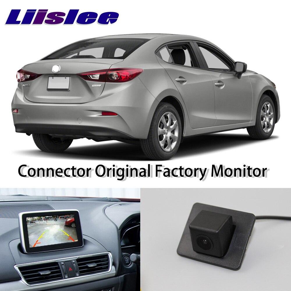 LiisLee Haute Qualité Arrière Vue Arrière Caméra Pour Mazda 3 Mazda3 Axela Sedan BM 2014 ~ 2017 Connecter D'origine Usine Moniteur à écran