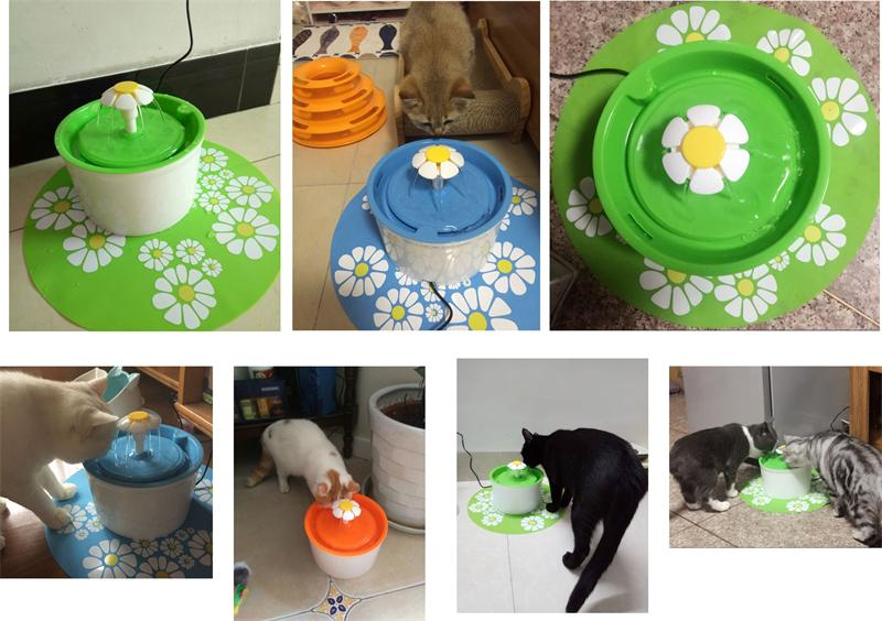Flower Style Cat Water Drinking Fountain 10