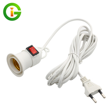 E27 Lamp Holder Screwed Socket 4M 8M Power Cord With Independent Push Button Switch E27 Lamp