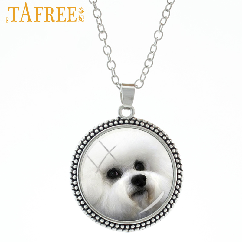 TAFREE Cute Puppy Necklace free-spirited Retriever Luby greyhound choker men women pendant for Handmade Fashion jewelry DG16
