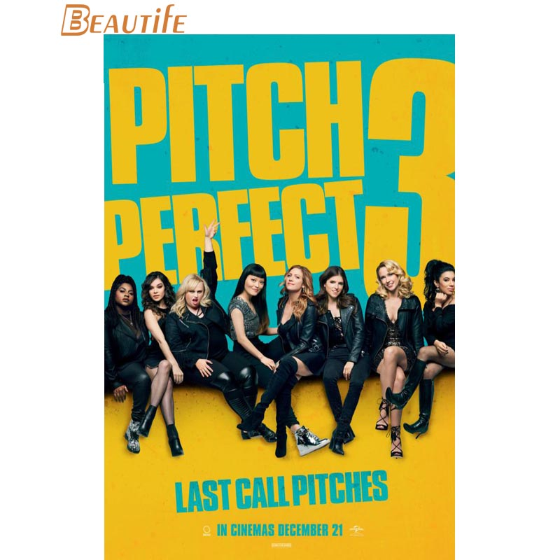 Hot Sale Custom pitch perfect Poster Home Decoration Fashion Silk Fabric Wall Poster Custom Poster