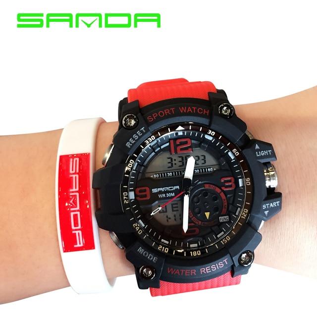 2017 Brand SANDA Led Digital Watch Men Sport Military Watches Alarm Stopwatch Fashion Luxury Men's Quartz Watches Luminous Clock