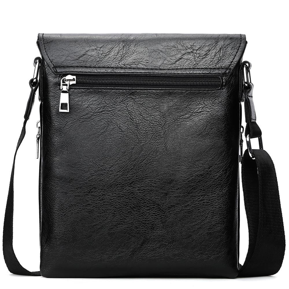 Leather Men Messenger Bags Promotional Crossbody Shoulder Bag Casual Man Bag