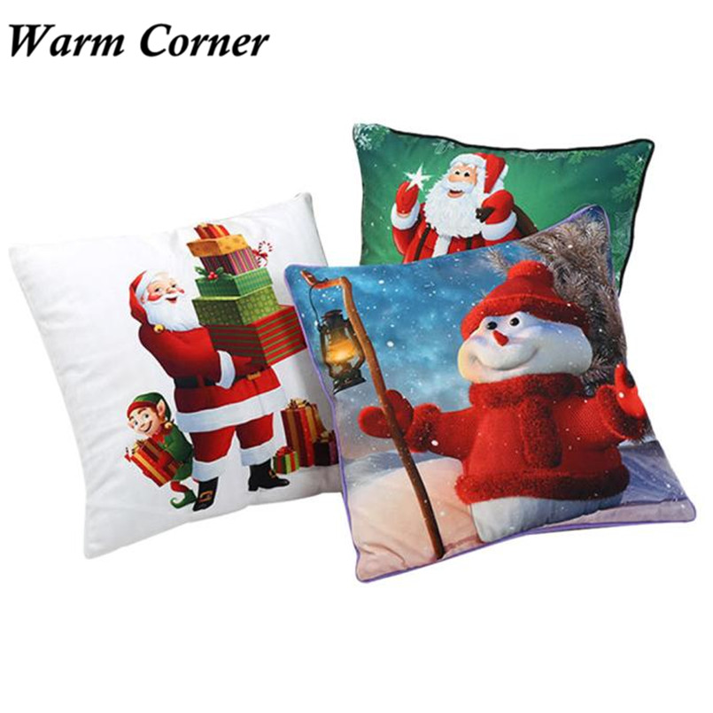 2017 New Arrivals Square Light Color Christmas Fabric Cotton Soft So Hot Pillow Case Halloween Free Shipping Sept 23