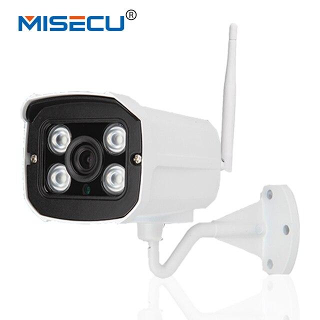 Misecu new night vision 1280*720 p hd 1.0mp p2p & onvif sem fio wi-fi à prova d' água câmera ir em/segurança cctv ao ar livre sistema de cftv ip