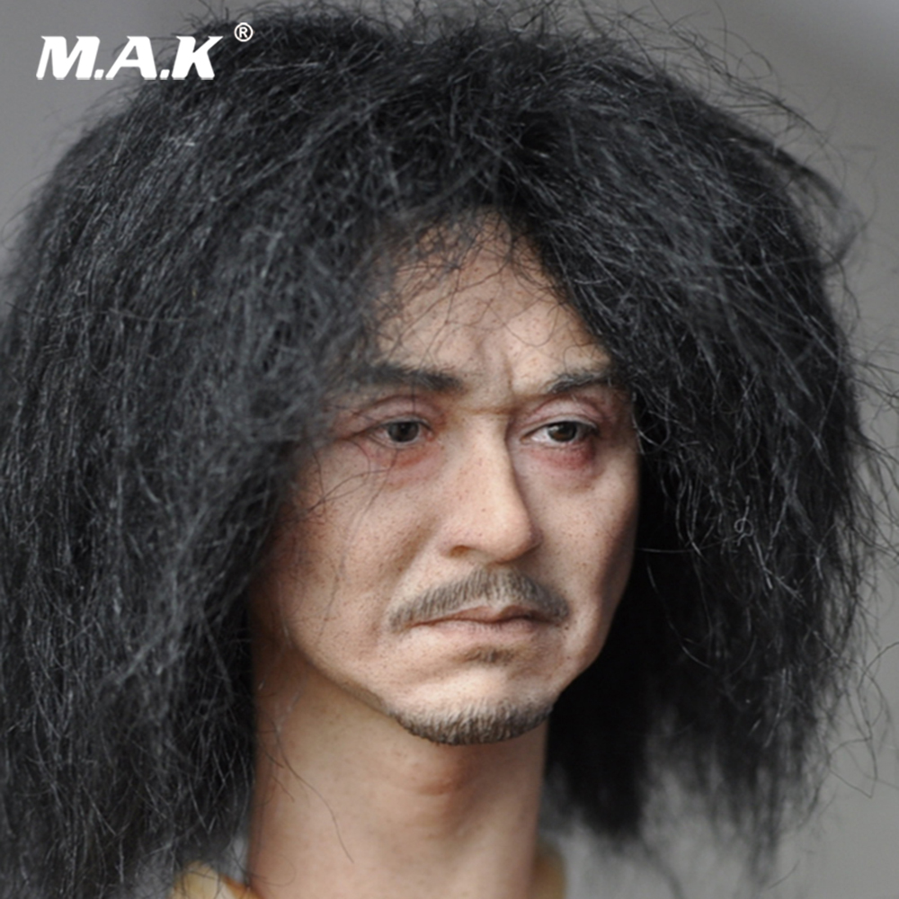 1/6 Scale Male PVC Head Sculpt KM18-39 Male Paste Head Carved Figure Model Toys for 12 inches Male Figure Body Collection Gift