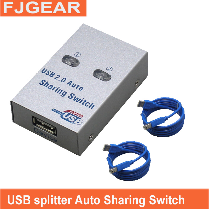 USB 2.0 hub USB splitter Auto Sharing Switch Computer Peripherals For 2 PC Computer Printer For Office Home Use Send 2 cables датчик lifan auto lifan 2