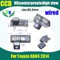 Ccd HD com fio estacionamento câmera de visão traseira para Toyota RAV4 carro reversa retrovisor câmera 520TVL