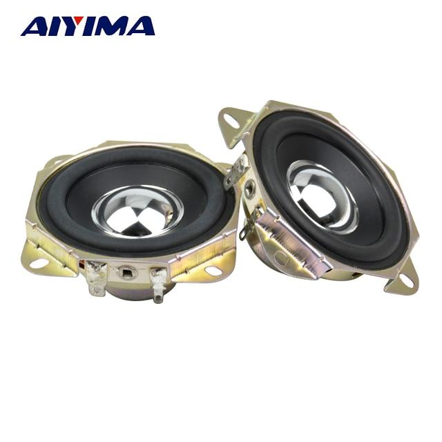 AIYIMA 2Pcs 2.75inch Audio Speaker 4Ohm 15W Uplifting Angle Neodymium Magnetic Full Range Speaker DIY