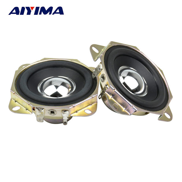 Aiyima 2 Stuks 2.75 Inch Audio Speaker 4Ohm 15W Uplifting Hoek Neodymium Magnetische Full Range Speaker Diy