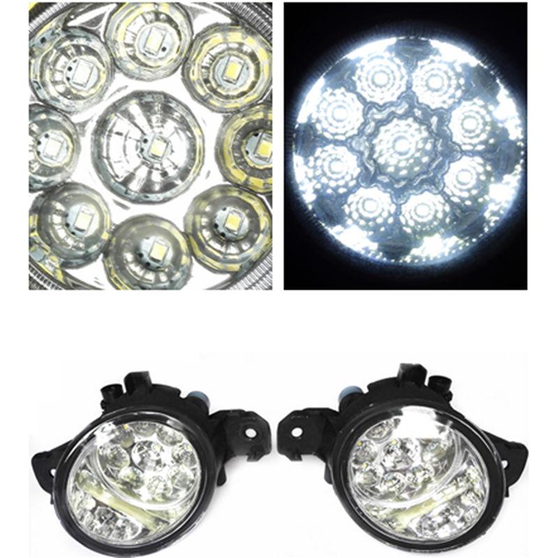 For NISSAN Ma Chi SUNNY SYLPHY Wingroad Fuga 2002-2015 Car-Styling Led Light-Emitting Diodes DRL Fog Lamps car styling halogen fog lights fog lamps for nissan wingroad 2002 12v 1set