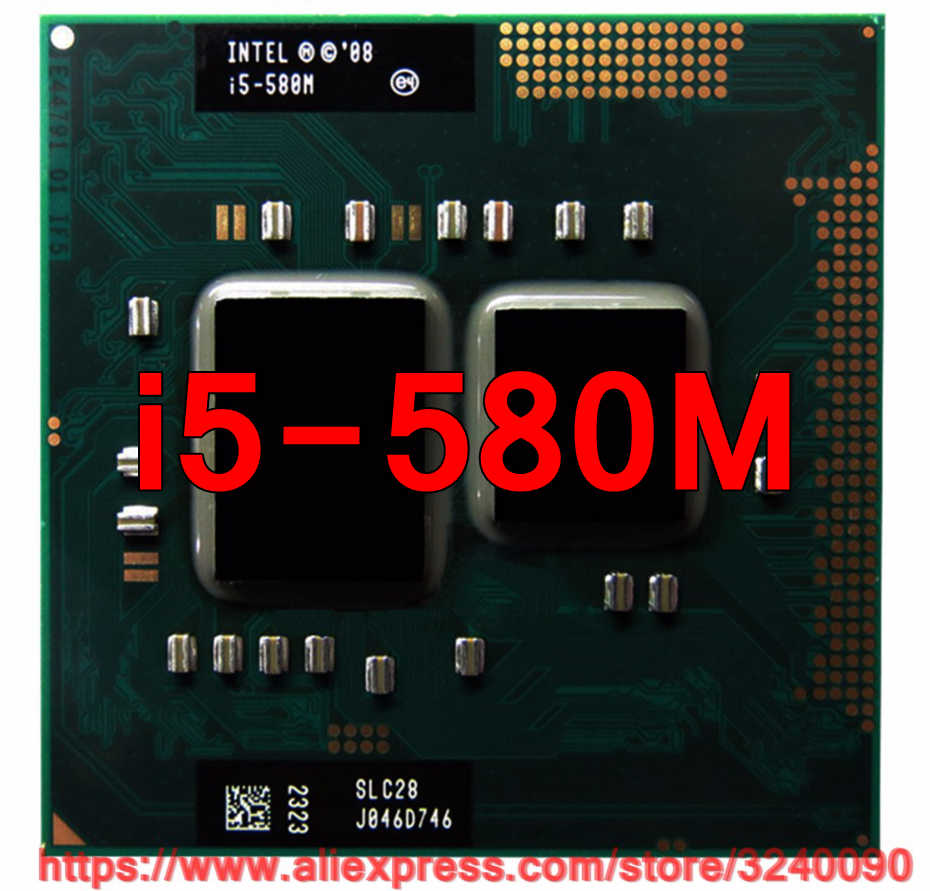 Original lntel Core i5 580M 2.66GHz i5-580M Dual-Core Processor PGA988 Mobile CPU Laptop processor free shipping