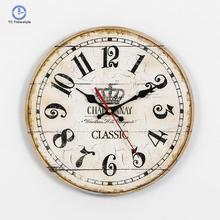 1cb0fccee الأوروبي خشب متين القديمة ساعة حائط الكرتون المشهد غرفة المعيشة ساعة حائط s  يمول الساعات غرفة