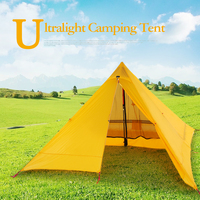 Ultralight 2 Person Tent Portable Backpacking Tent Double Side Silicone Coating Water resistant Outdoor Camping Tent