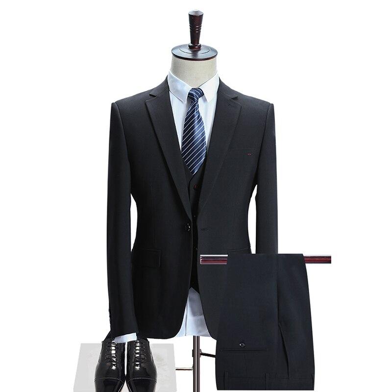 D'affaires Pantalon Hommes Laine Qualité Haute Hommes Mariage 2017 Nouveau De Blazer Costumes Mariage bleu Gilet Noir Style Robe vestes HqdwaHP