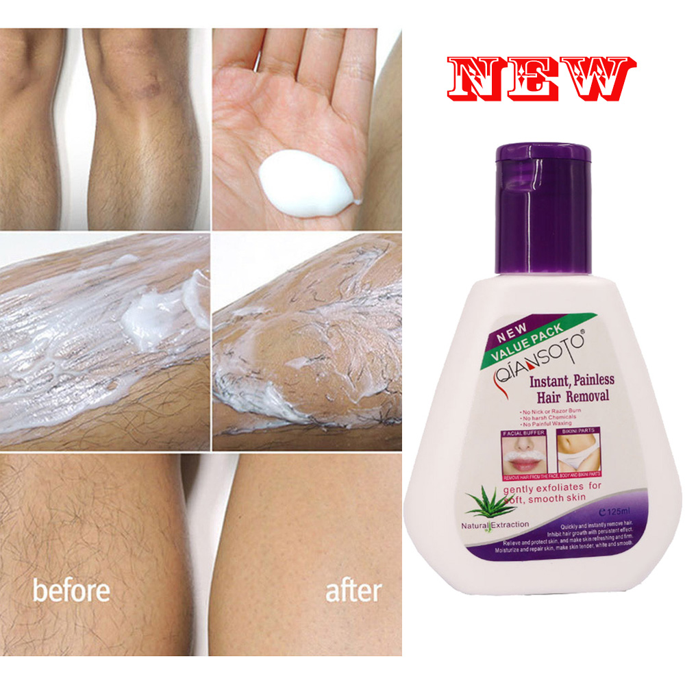 125ml Men Women Permanent Hair Removal Cream Stop Hair Growth Inhibitor Removal Powerful Depilatory Paste Smooth