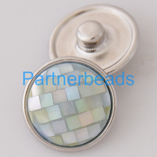 product OEM ODM 18MM shell snap button for snaps jewelry fit button bracelets from www partnerbeads com KB2801-AE