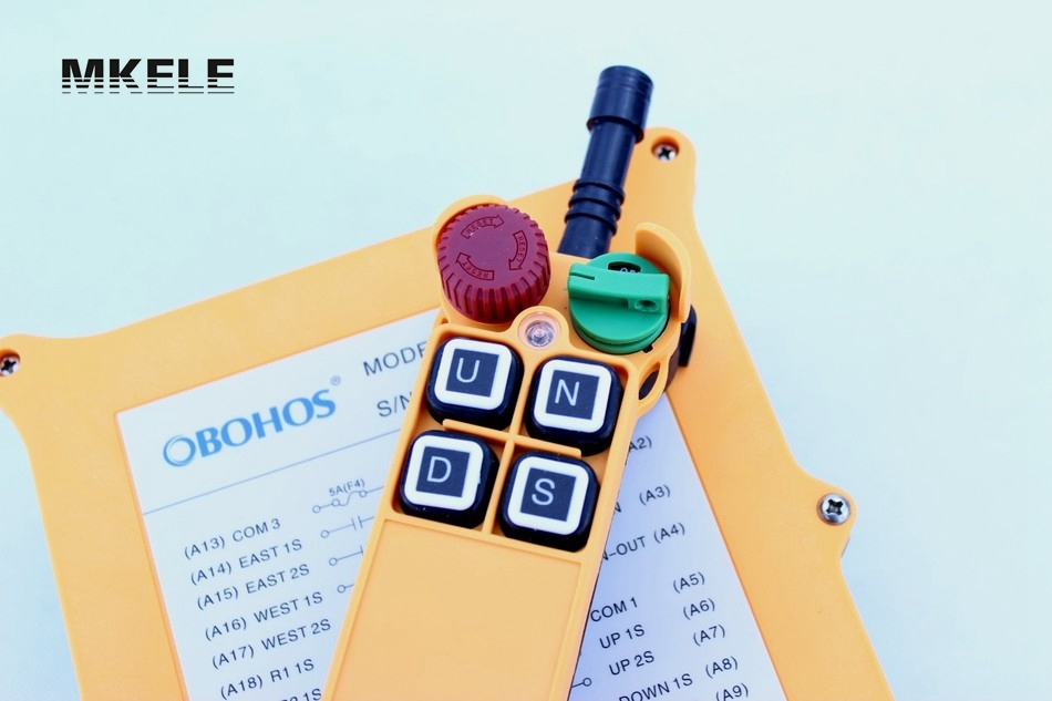 High Quality New Arrivals Crane Industrial Remote Control HS-4D Wireless Transmitter Push Button Switch China hs 10s crane industrial remote control switch hs 10s wireless transmitter switch