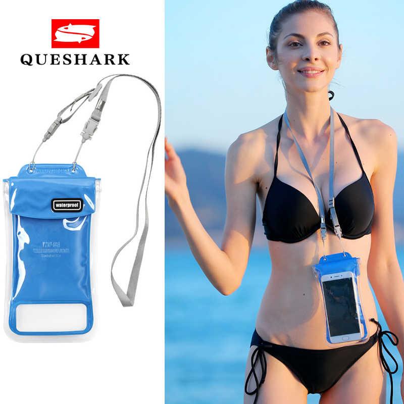 Tahan Air Sentuh Layar Renang Tas Menyelam Ponsel Tas Musim Panas Outdoor Air Pelampung Renang Inflatable Trekking