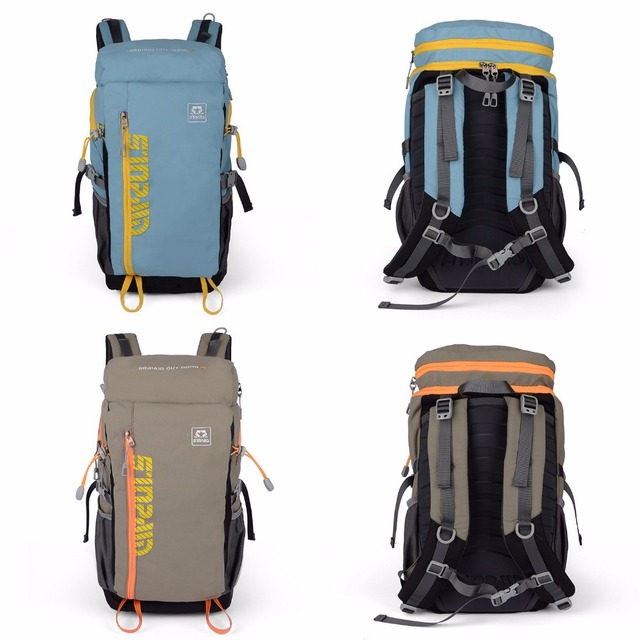 SINPAID Multifunction Mountaineering Backpack Waterproof Travel Bag for Riding Tour Trip Casual Style Color Blue Khaki and Brown