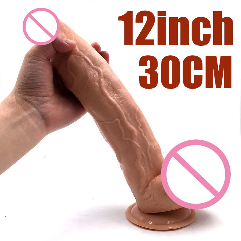 <font><b>Sex</b></font> Products 12inch 30cm Huge <font><b>Dildos</b></font> with Strong Suction Cup <font><b>Realistic</b></font> <font><b>Big</b></font> <font><b>Dildo</b></font> Penis Female Masturbator <font><b>Sex</b></font> <font><b>Shop</b></font> <font><b>Adult</b></font> image