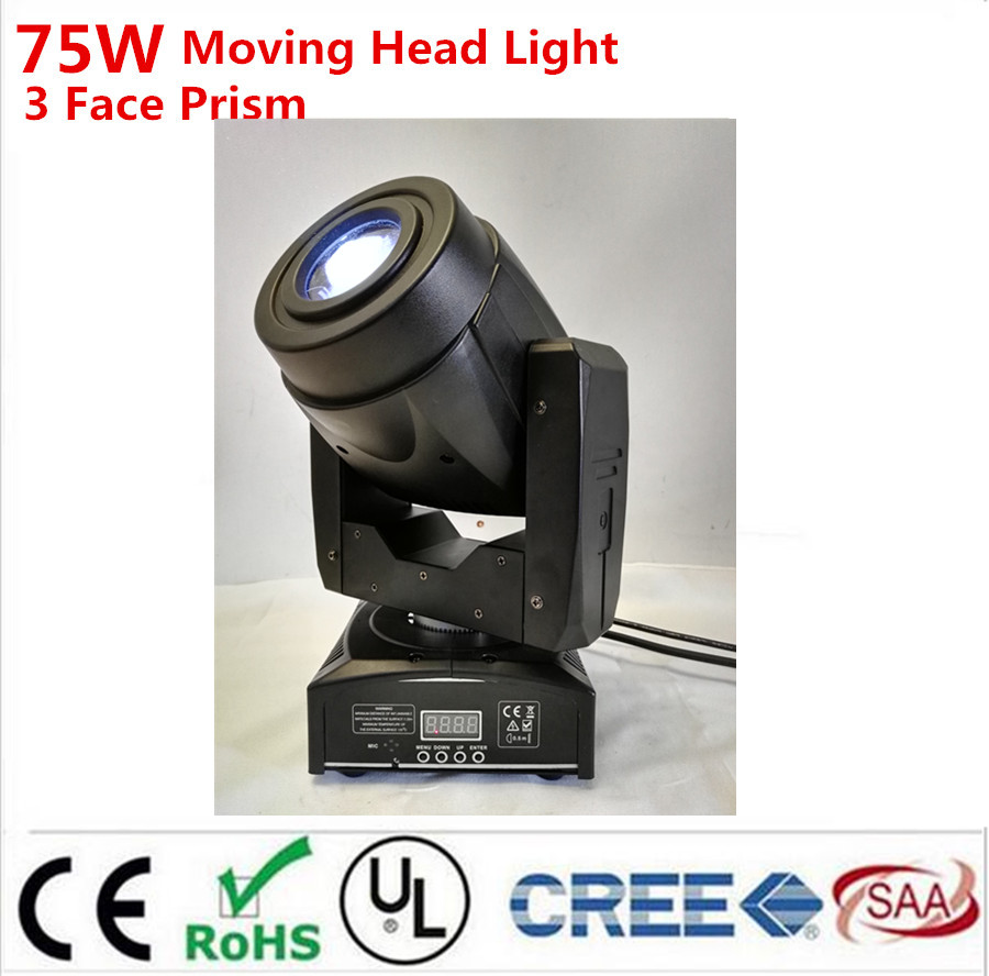 HOT 75W LED Moving Head 3 Face PrisSpot Stage Lighting DMX Channel Hi-Quality Hot Sales Prism Led Moving Light New Design