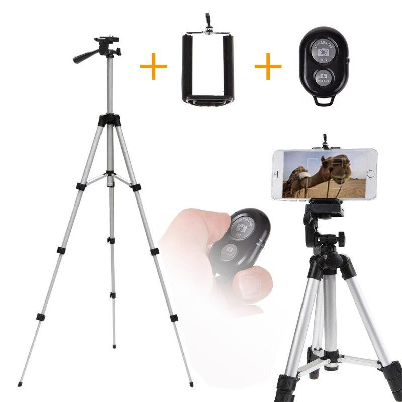 bilder für 110 cm Professionelle Smartphone Stativ Halter Halterung Ständer für iPhone Samsung Handy Für Gopro Für Angeln Lampe mit Fernbedienung