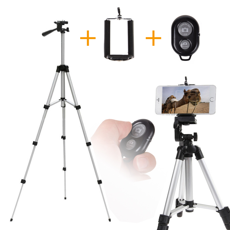 110cm Professional Smartphone Tripod Holder Mount Stand for iPhone Samsung Mobile Phones with Tripod Accessories Remote Controll