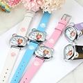 KEZZI Top Brand Quartz Wristwatches Children Watch for Boys Girls Waterproof Leather Band 5 Color Bear Shape Student Wrist Watch